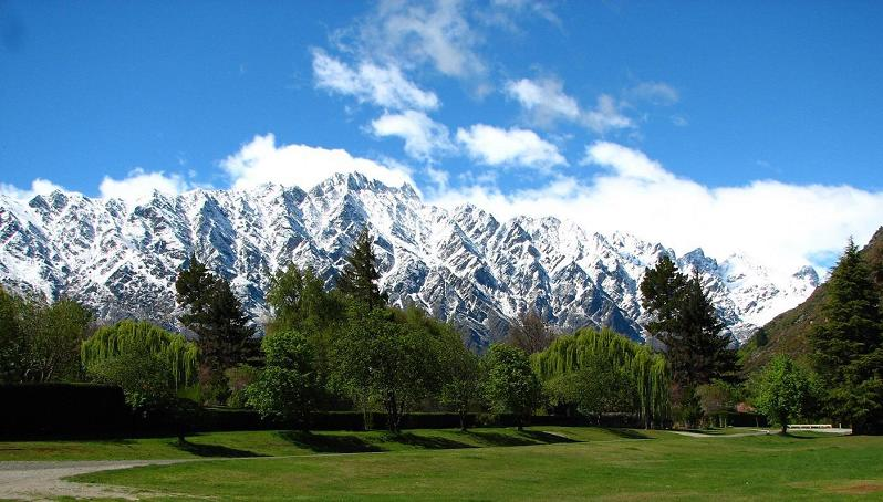 View of Remarkables from studio
